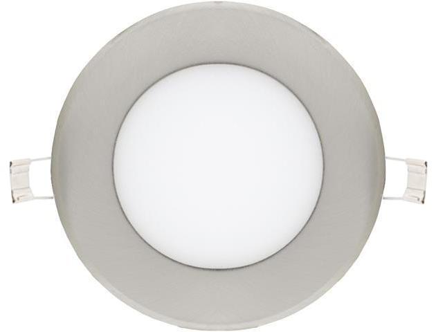 Chrom runder eingebauter LED Panel 120mm 6W Warmweiß