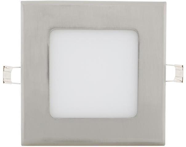 Chrom eingebauter LED Panel 120 x 120mm 6W Warmweiß