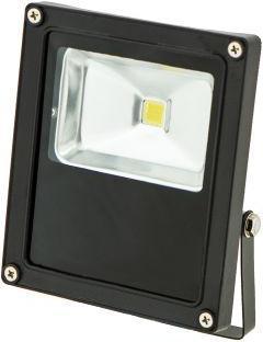 Schwarzer LED Strahler 12V 10W Tageslicht