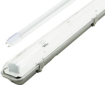 LED staubdicht Körper + 1x 150cm LED Röhre