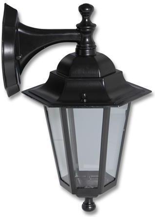 Schwarze LED retro Lampe Wand 8W Warmweiß Z6102 CR