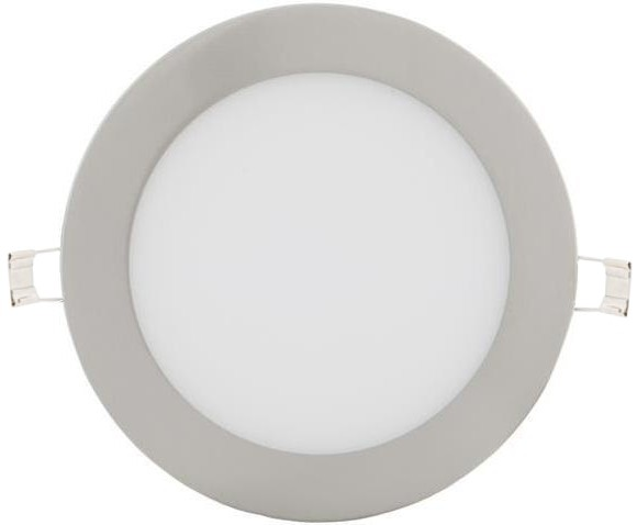 Dimmbarer Silber runder eingebauter LED Panel 175mm 12W Warmweiß
