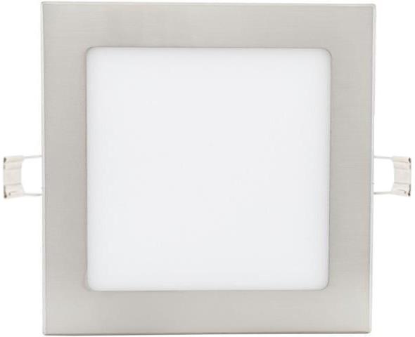Dimmbarer chrom eingebauter LED Panel 175 x 175mm 12W Warmweiß