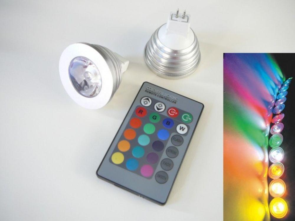 Dimmbarer LED Lampe RGB16 2 Lampe MR16 60°
