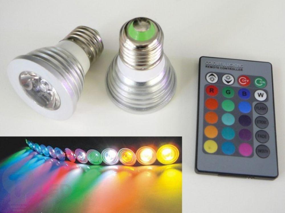 Dimmbarer LED Lampe RGB16 2 E27 60°