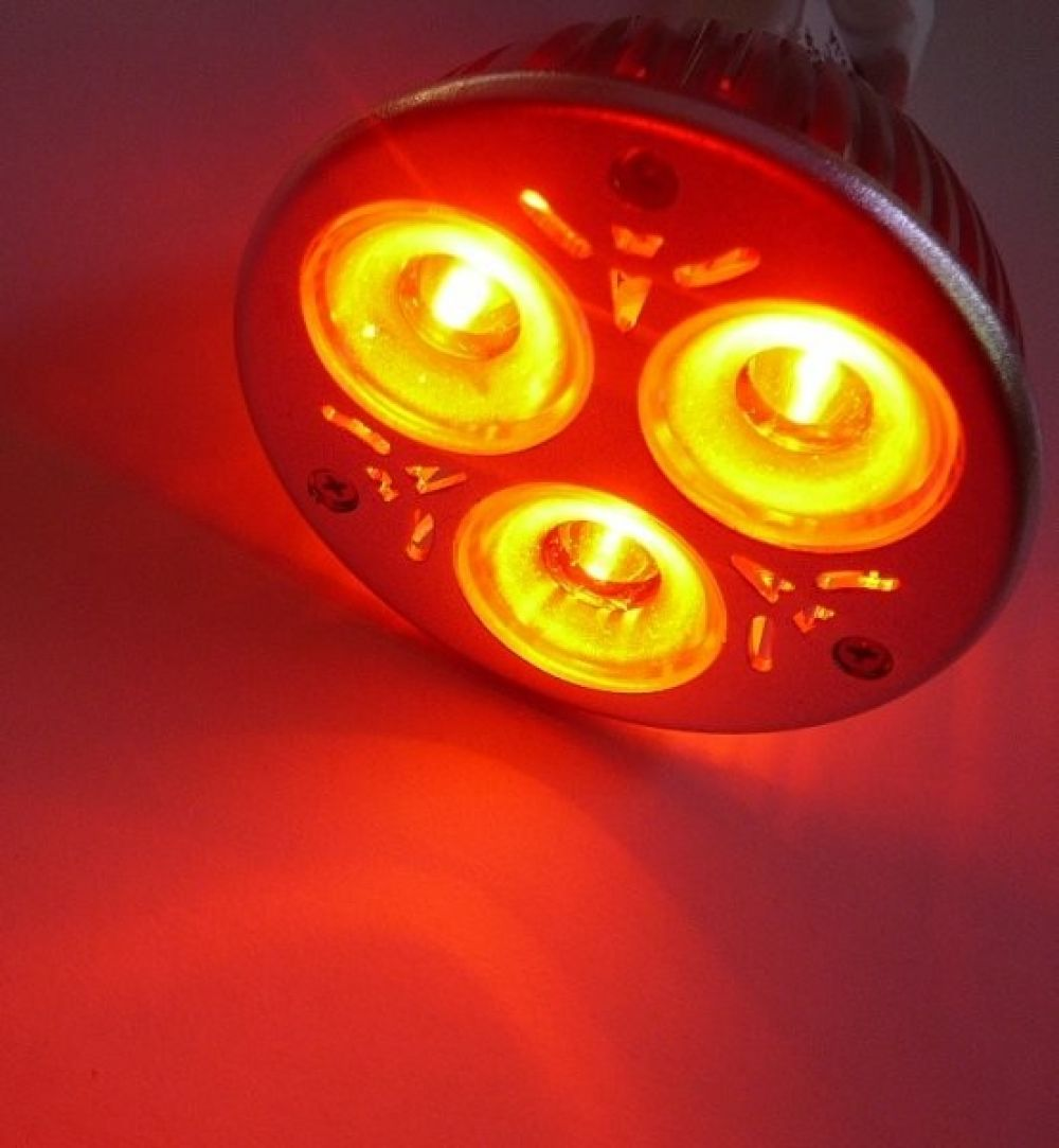 Farbige LED Lampe MR16 rot