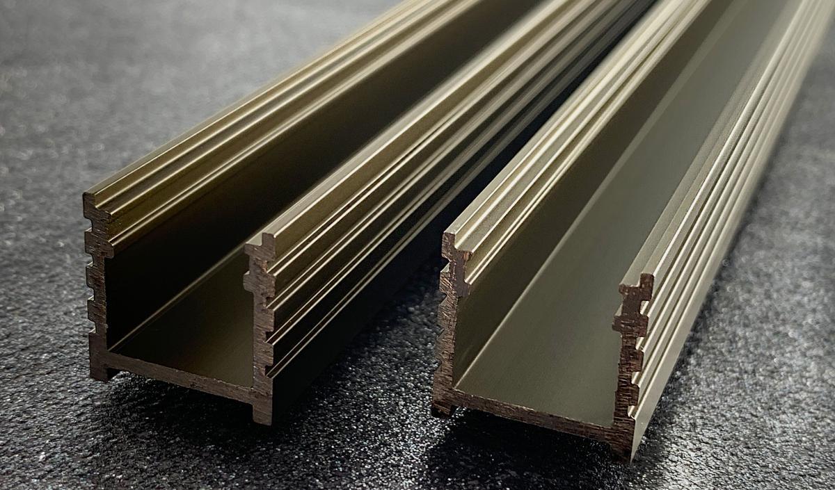 LED Profil N4B Wand bronz 1m