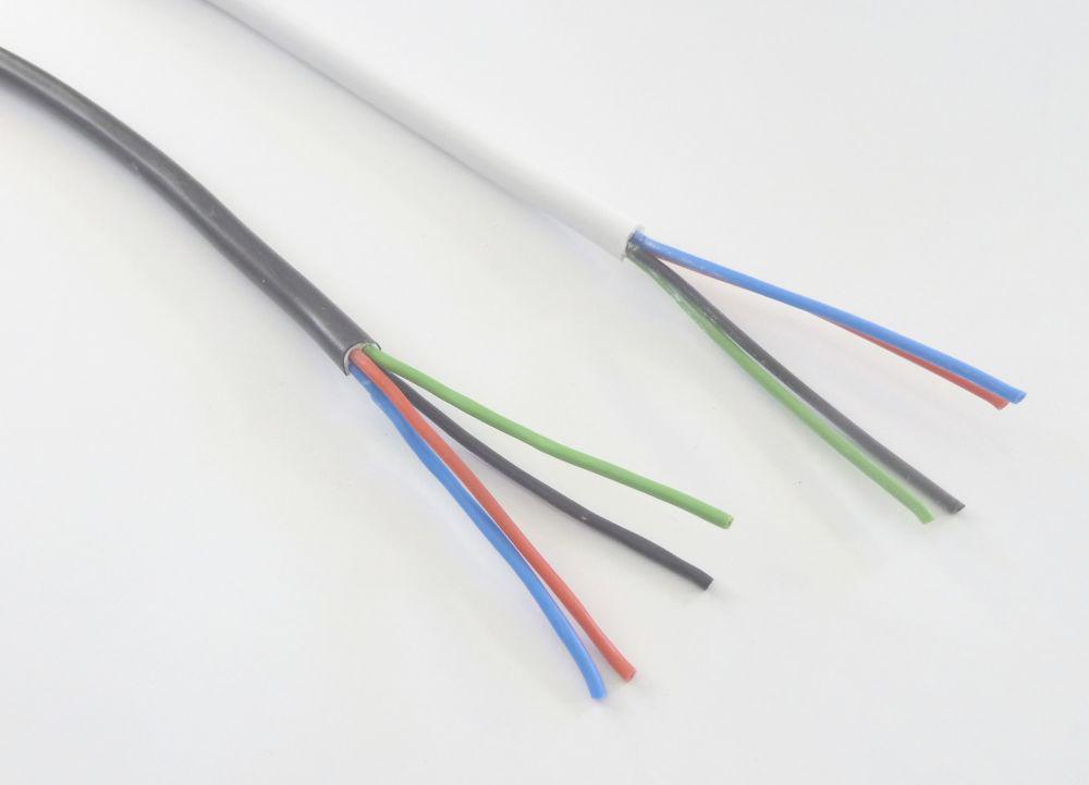 RGB Kabel 4x0,5 runder