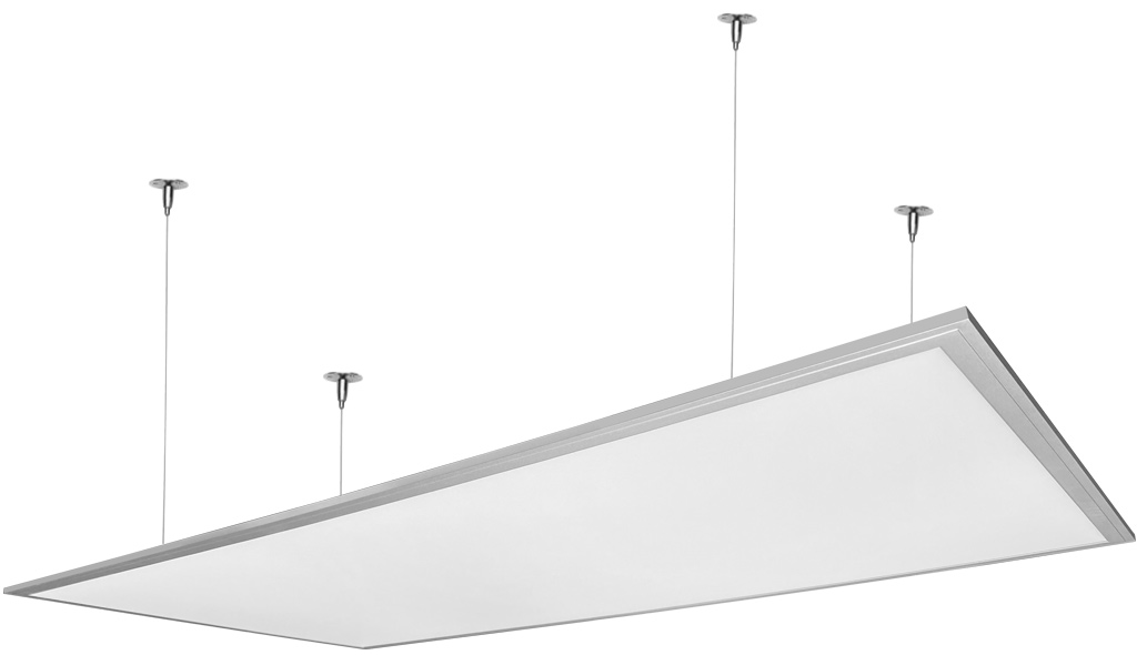 Dimmbarer Silbern hängen LED Panel 600 x 1200mm 72W Kaltweiß