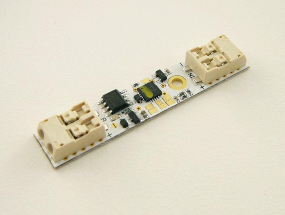 Touch-Mikrodimmer im Profil mit Klammern