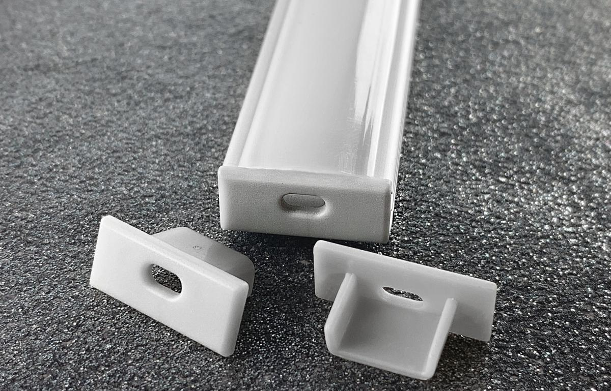 N2 LED Profil Kunststoff mit Loch