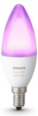 Philips HUE LED Lampe 6W RGB E14 470lm 2200 6500K 16 mil.barev