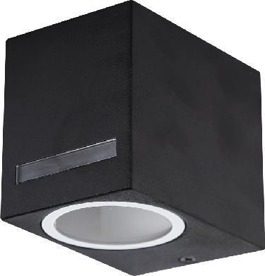Schwarzes außen kleines eckig Wand Beleuchtung 10W Warmweiß