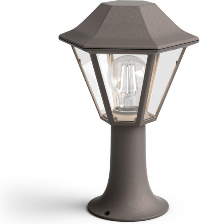 Philips LED Pfeiler Außenleuchte E27 15W Curassow Tageslicht 17387/43/PN