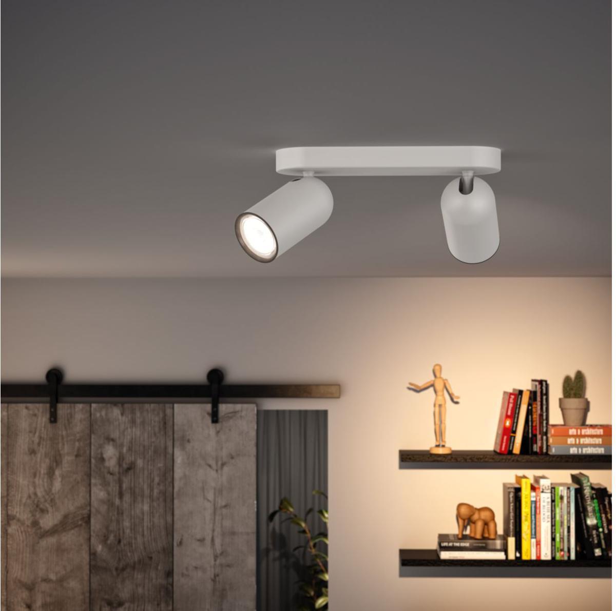 Philips LED Spotlicht GU10 2x10W Tageslicht weiss Pongee 50582/31/PN