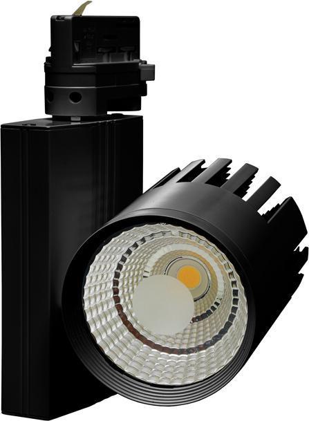 Black 3 Phasen Schiene LED Strahler 40W Tageslicht