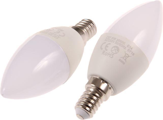 LED Birne E14 SVC37 5W Kerze Kaltweiß
