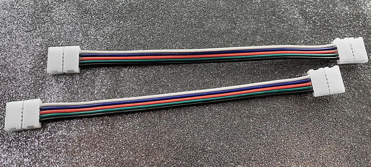 RGBW verbindungsstück Click 10mm mit Kabel