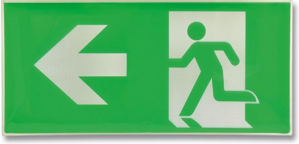 Kunststoff Zeichen EXIT nach 48 links