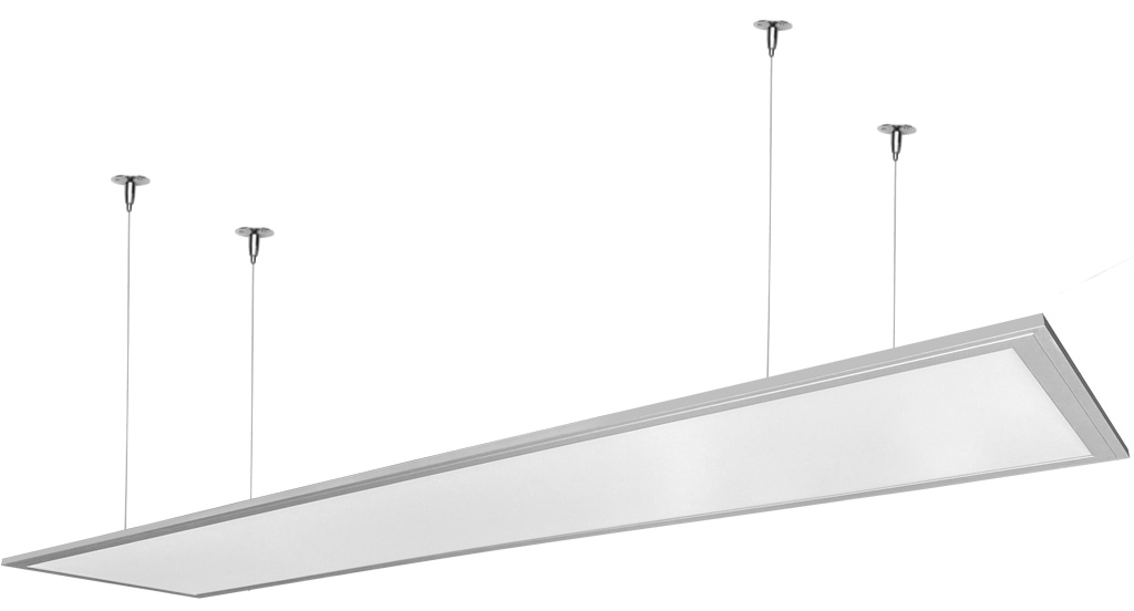 Dimmbarer Silbern hängen LED Panel 300 x 1200mm 48W Kaltweiß