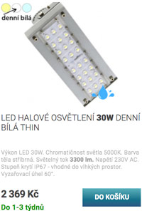 LED halové osvětlení 30W denní bílá