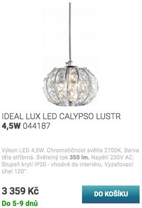 IDEAL LUX LED CALYPSO LUSTR 4,5W 044187