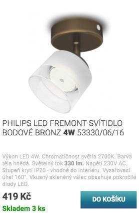 PHILIPS LED FREMONT SVÍTIDLO BODOVÉ BRONZ 4W 53330/06/16