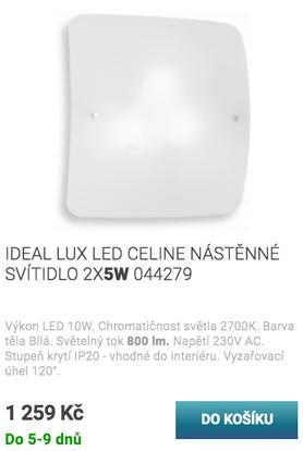 IDEAL LUX LED CELINE NÁSTĚNNÉ SVÍTIDLO 2X5W 044279