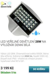 LED veřejné osvětlení 28W denní bílá