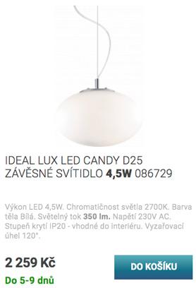LED lustr závěsný červený