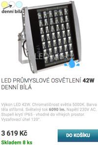 LED průmyslové osvětlení 42W denní bílá