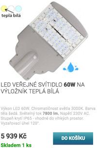 LED průmyslové osvětlení 50W denní bílá