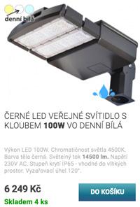 Výklopné LED pouliční osvětlení 30W denní bílá