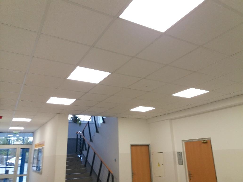LED osvětlení Panely budova 1