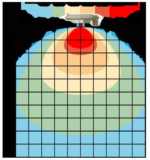 graf světelného toku - LED veřejné svítidlo s kloubem 150W teplá bílá