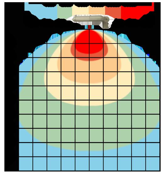 graf světelného toku - LED veřejné svítidlo s kloubem 180W denní bílá