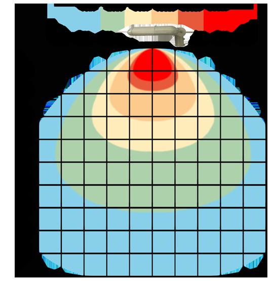 graf světelného toku - LED veřejné svítidlo s kloubem 120W teplá bílá