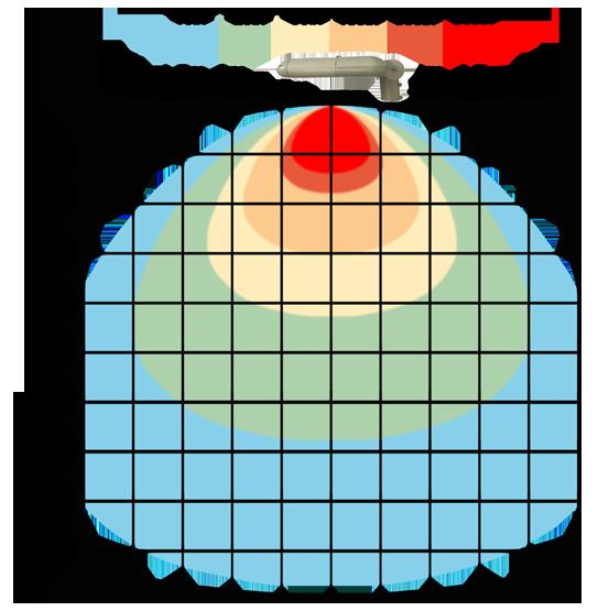 graf světelného toku - LED veřejné svítidlo s kloubem 60W denní bílá
