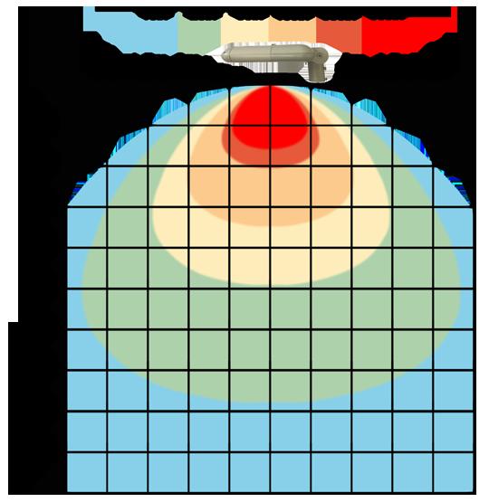 graf světelného toku - LED veřejné svítidlo s kloubem 90W teplá bílá