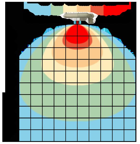 graf světelného toku - LED veřejné svítidlo s kloubem 90W denní bílá