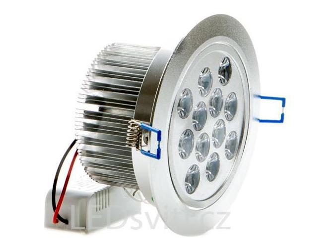 LED vestavné bodové světlo 12x 1W studená bílá