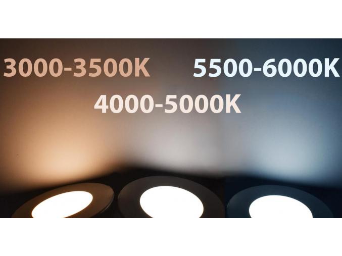 Nikl vestavné podhledové LED svítidlo 7W denní bílá IP44 230V