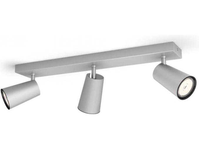 Philips LED bodové přisazené svítidlo GU10 3x10W denní bílá stříbrné Paisley 50573/48/PN