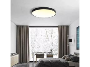 Černý designový LED panel 400mm 24W teplá bílá
