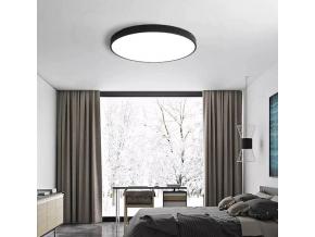 Černý designový LED panel 600mm 48W denní bílá
