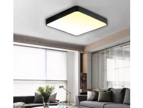 Černý designový LED panel 500 x 500mm 36W teplá bílá