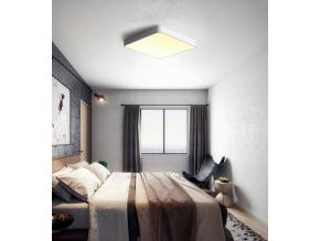 Bílý designový LED panel 500 x 500mm 36W teplá bílá