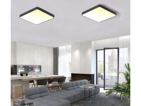 Černý designový LED panel 600 x 600mm 48W teplá bílá