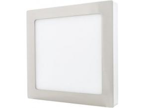 Chromový přisazený LED panel 225 x 225mm 18W denní bílá