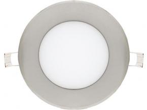 Chromový kruhový vestavný LED panel 120mm 6W denní bílá
